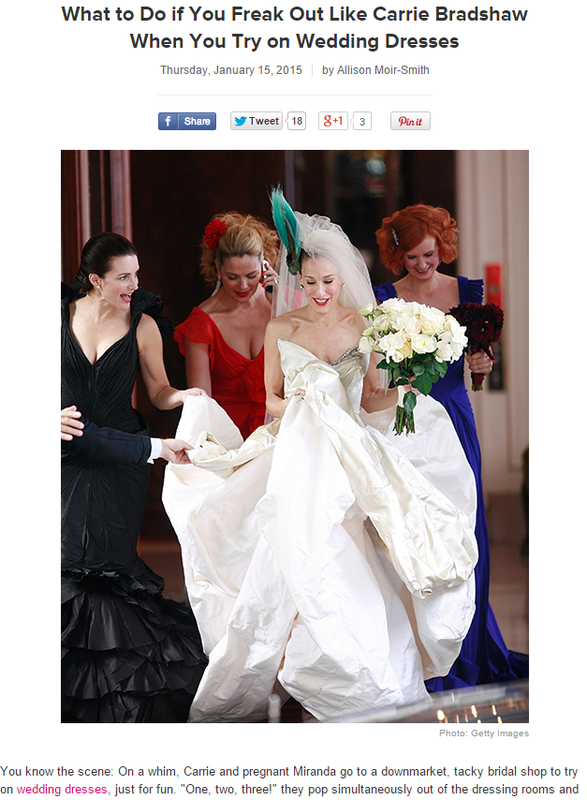 Brides.com blogs by Allison Moir-Smith